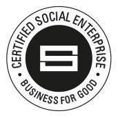 certified social enterprise logo. Business for good